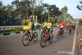 Kapolda Jambi sisir situasi Kamtibmas Kota Jambi dengan bersepeda