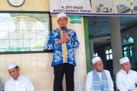 Pemkab Bangka Tengah salurkan bantuan Rp500 juta untuk bangun Masjid