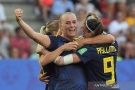 Swedia jungkalkan Jerman 2-1 demi mencapai empat besar Piala Dunia Putri