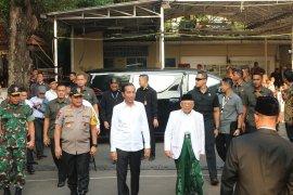 Jokowi-Ma'ruf hadiri Rapat Pleno KPU