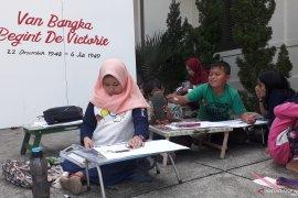 Puluhan siswa Bangka Barat ikuti lomba menggambar tokoh Republik