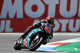 Cedera tak hentikan Quartararo tantang  Marquez di GP Jerman