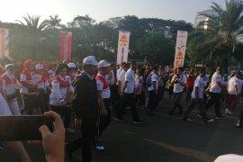 Panglima TNI dan Kapolri olahraga bersama di Silang Monas