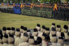 Upacara HUT Bhayangkara di Bandung