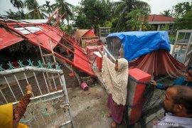 BPBD Aceh Utara masih mendata kerusakan akibat puting beliung