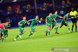 Aljazair maju semifinal usai singkirkan Pantai Gading lewat adu penalti