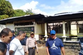 Kantor Satpol PP Kabupaten Malra terbakar