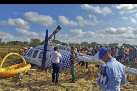 Helikopter jatuh di Lombok