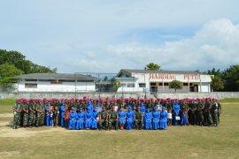 Satuan tugas Natuna Batalyon Marinir 8 Tangkahan Lagan pulang