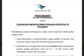 Garuda Indonesia cabut larangan memotret di pesawat ganti dengan imbauan