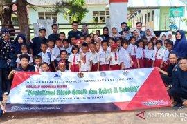 """Mahasiswa KKN UBB perkenalkan """"Bank Sampah"""" kepada pelajar"""