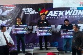 Aceh Warrior Juara Umum Prestasi pada Open Tournament Taekwondo Pemerintah Aceh 2019