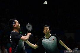 Ganda putra Hendra/Ahsan lolos ke semifinal Indonesia Open