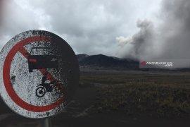 Semburan abu vulkanik Gunung Bromo mengarah ke Kabupaten Malang
