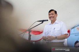 Luhut di Sukabumi meresmikan TPI daring pertama di Indonesia