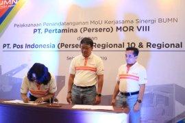 PT. Pertamina MOR VIII - PT. Pos Indonesia kerja sama kemitraan