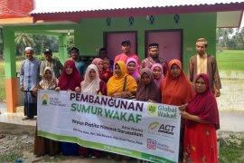 Global Wakaf-ACT buatkan sumur wakaf di Aceh Timur