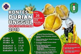 Ini syarat dan hadiah Kontes Durian Unggul Bumi Khatulistiwa 2019