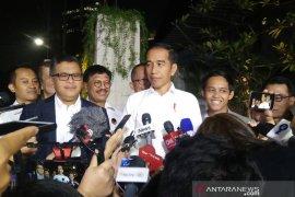 Presiden Jokowi tak bicarakan calon menteri pada pembubaran TKN