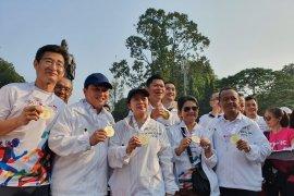 Sebanyak 2.020 pelari meriahkan Olympic Day Run di Senayan