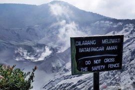 Masyarakat diimbau tidak panik pasca erupsi Tangkuban Parahu