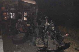 Bus hilang kendali tiga orang meninggal, di Cipali
