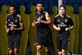 James Rodriguez kembali latihan di Real Madrid