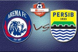 Hasil Liga 1: Persib vs Arema 3-0 di babak pertama