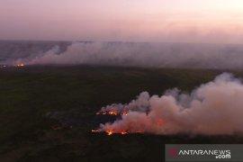 Tiga titik spot api bakar lahan di Tapin