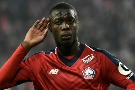 Pepe mulai pamer seragam Arsenal jelang teken kontrak