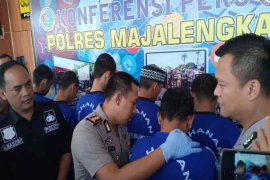 Polres Majalengka tangkap enam pengedar narkoba dari lima kasus