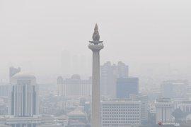 Kualitas Udara Kota Jakarta Kamis Dini Hari Masih Tidak Sehat
