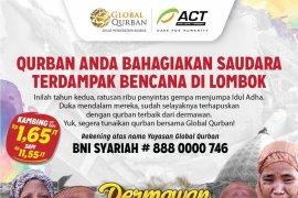 Global Qurban-ACT distribusikan daging untuk pengungsi korban gempa di Lombok