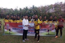 Kesebelasan Desa Palajau juara Liga Desa Nusantara