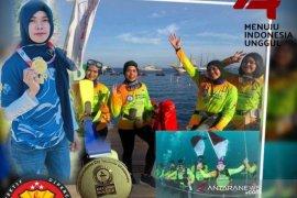Dua penyelam Polres Tanah Bumbu ikuti pemecahan rekor dunia di Manado
