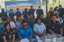BNN Sumut musnahkan sabu selundupan dari Malaysia