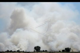 Kebakaran lahan di Sumatera Selatan