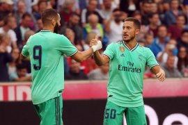 Eden Hazard ciptakan gol pertamanya di Real Madrid