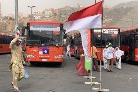 Angkutan bus selama puncak haji dibagi empat trip sesuai maktab