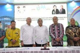 Walikota Tebing Tinggi teken MoU dengan gubernur wujudkan Kota Layak Anak