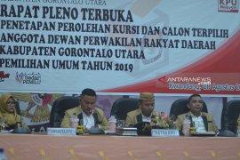 KPU Gorontalo Utara tetapkan calon terpilih anggota DPRD