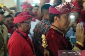 Presiden Jokowi dan Megawati disambut 500 penari pendet