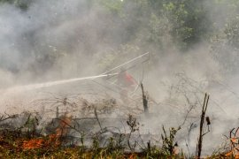 112 titik panas indikasi Karhutla tersebar di Sumatera, Riau terbanyak