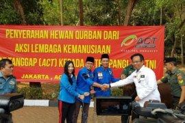DPP KNPI mendapat bantuan hewan kurban dari Aster Panglima TNI