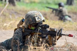 Latihan bersama Marinir Indonesia-Amerika