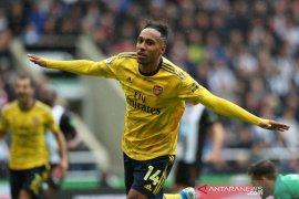 Aubameyang bawa kemenangan Arsenal saat melawan Newcastle