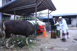 Wabup HSS serahkan sapi kurban di Mesjid Jami Ibrahim