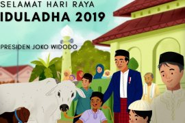 Presiden Jokowi sampaikan ucapan selamat  Idul Adha 1440 H