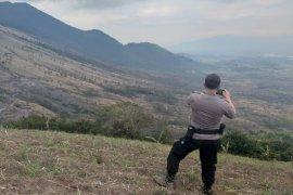 Polisi selidiki kebakaran hutan di Gunung Guntur yang diduga disengaja