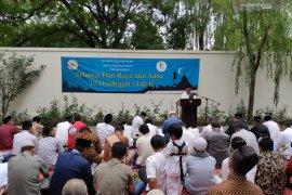 Pertama kali KBRI Beijing gelar shalat Idul Adha